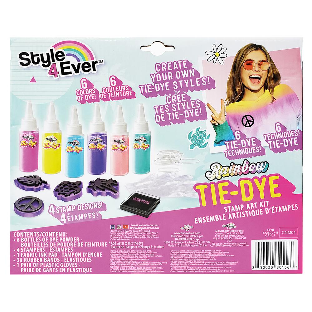 Style 4 Ever - Ensemble de 6 tubes Tie Dye