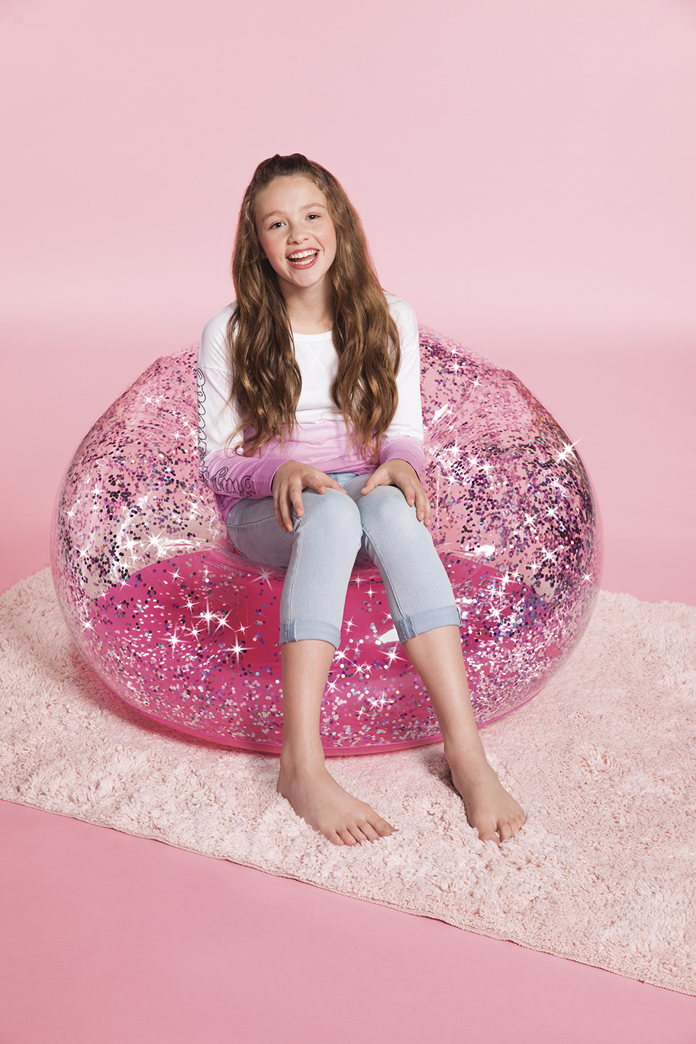 3C4G - Chaise gonflable brillante - Rose
