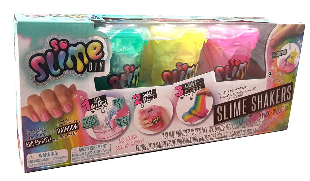 So Slime DIY - Ensemble de 3 pots de glu assortis