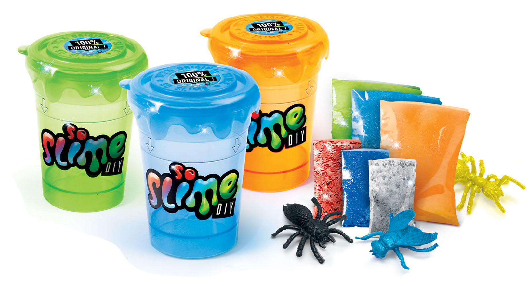 So Slime DIY - Slime Shakers Ensemble 3 pots de glu couleurs BOLD