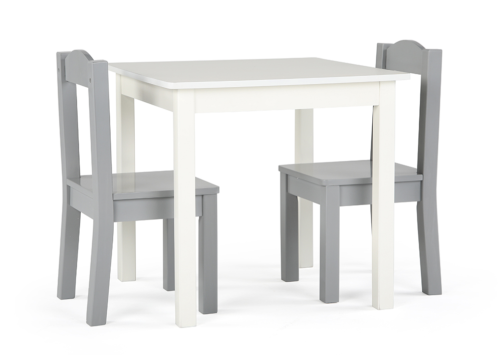Inspire Table blanche & Chaises grises