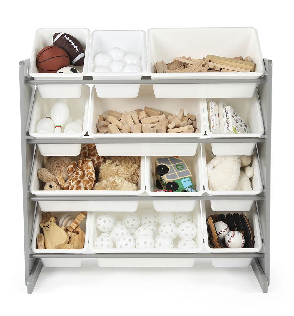 Inspire Organisateur de jouet gris&blanc