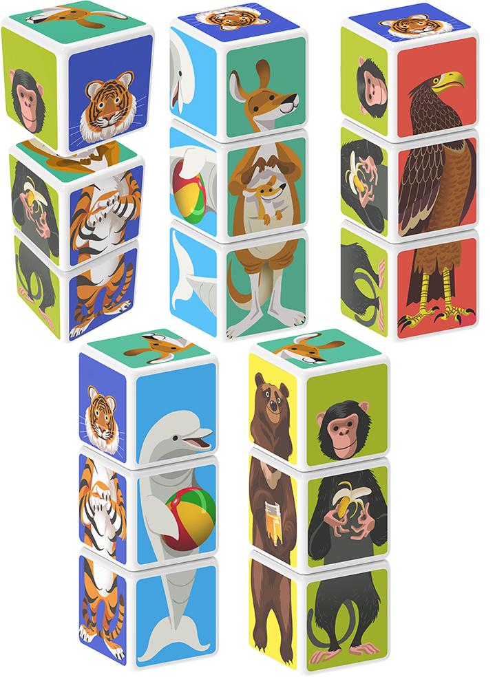 Geomag - Cube magnétique Animaux 3 pièces