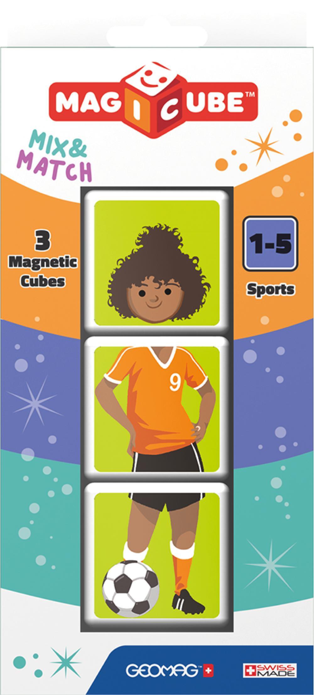 Geomag - Cube magnétique Sportifs 3 pièces