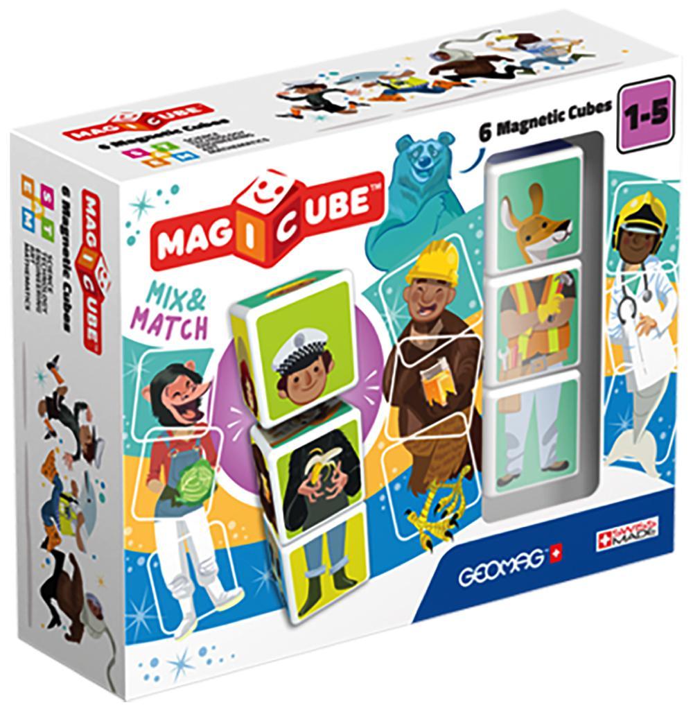 Geomag - Cube magnétique Mix & Match 6 pièces