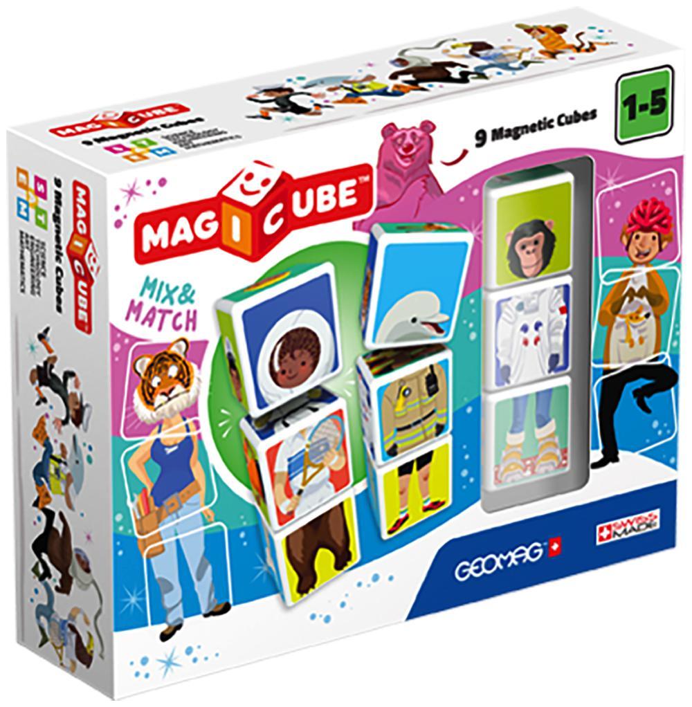 Geomag - Cube magnétique Mix & Match 9 pièces