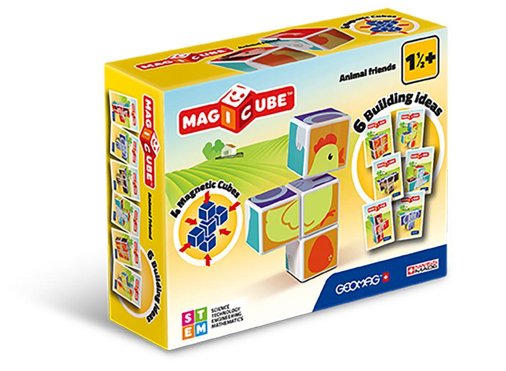 Geomag - Cube magnétique Animaux 7 pièces
