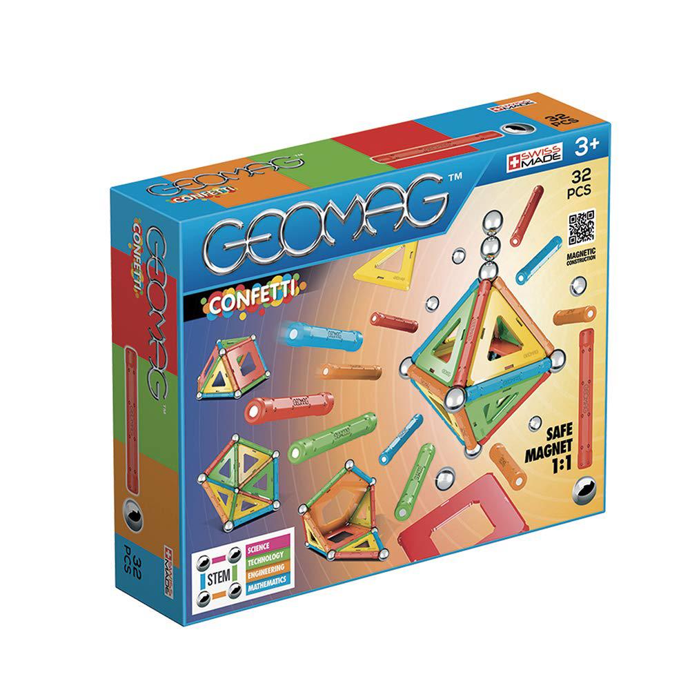 Geomag Ensemble magnétique Confetti 32 pièces