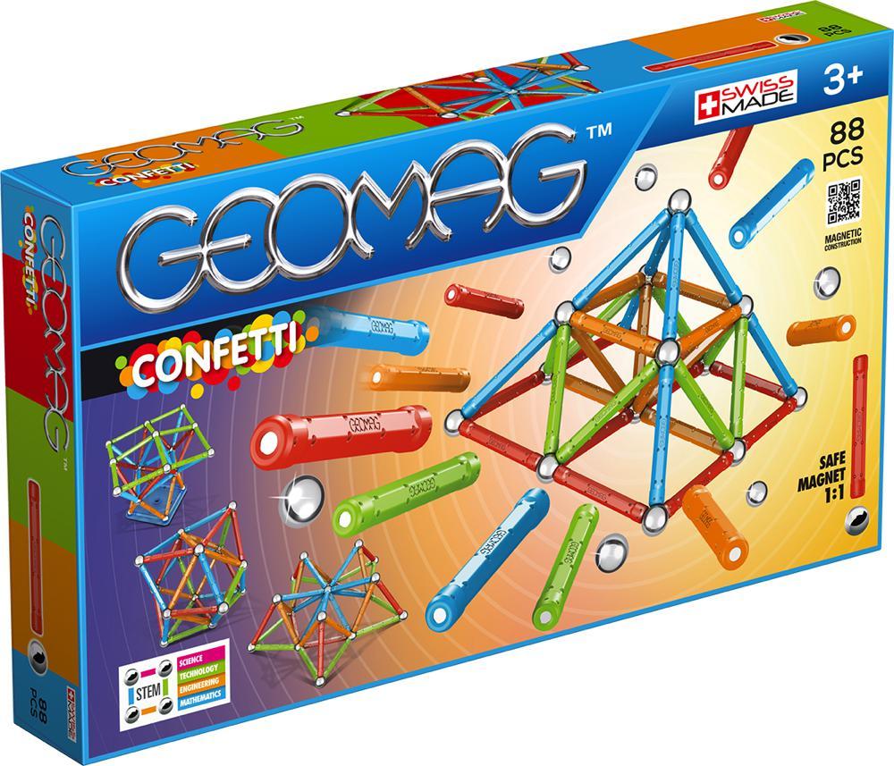 Geomag - Ensemble magnétique Confetti 88 pièces