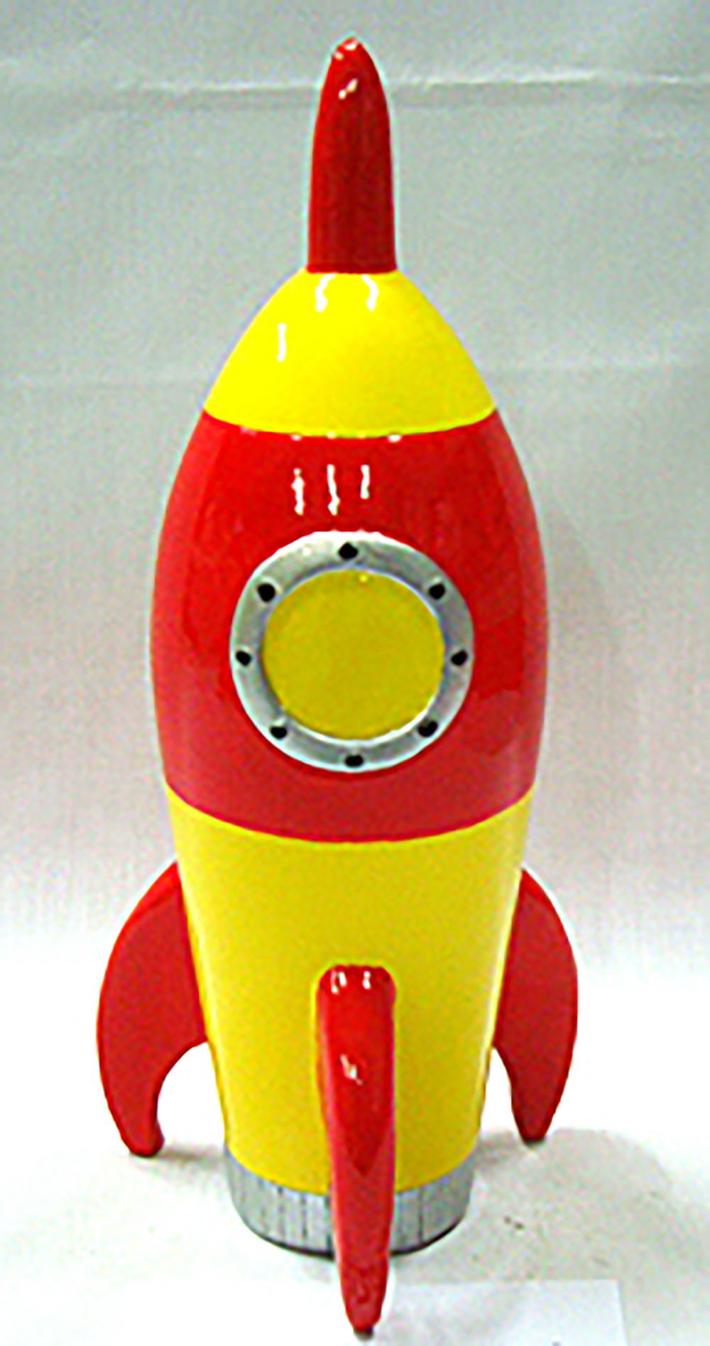 Banque Fusée rouge 8 pouces