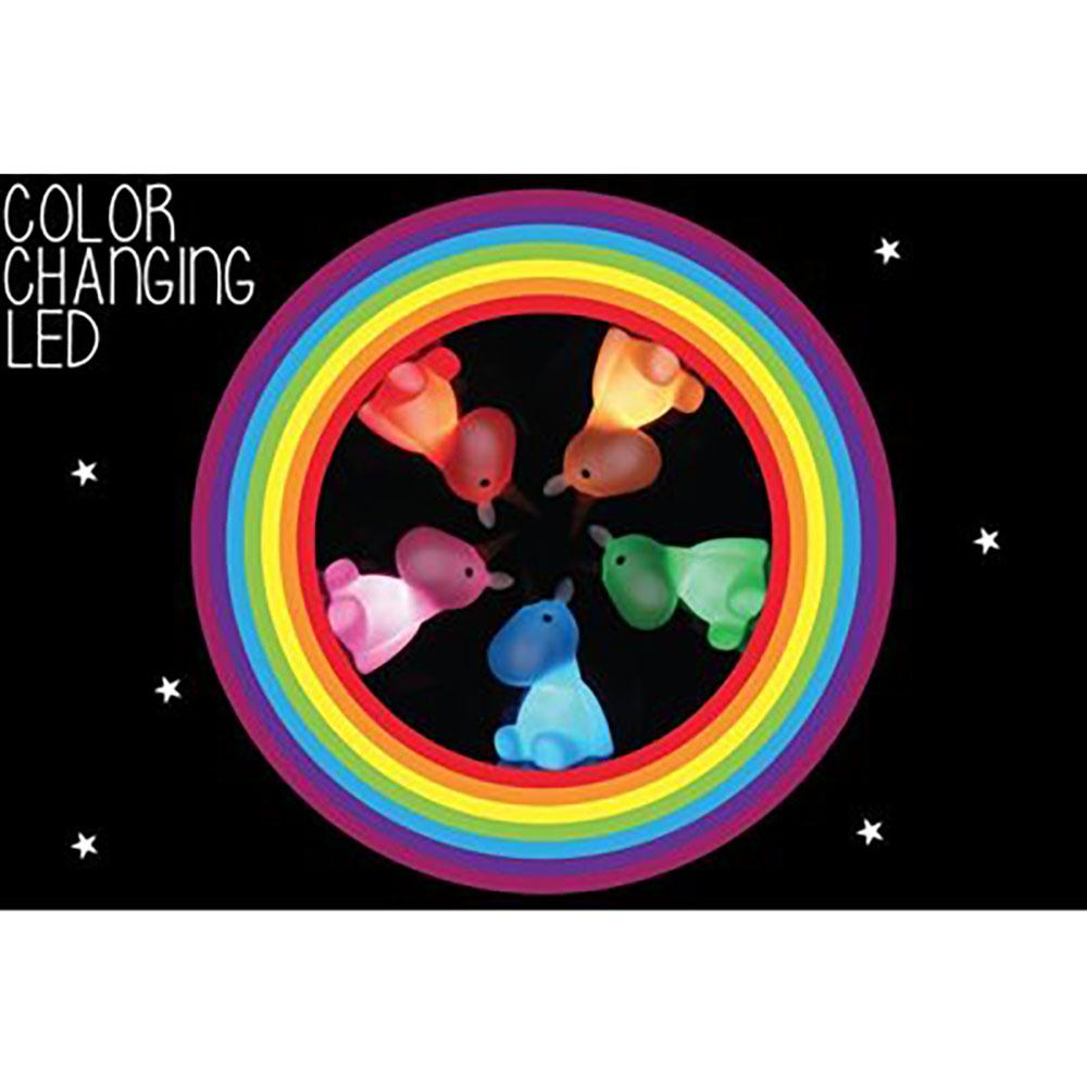 Veilleuse licorne multicolore à DEL