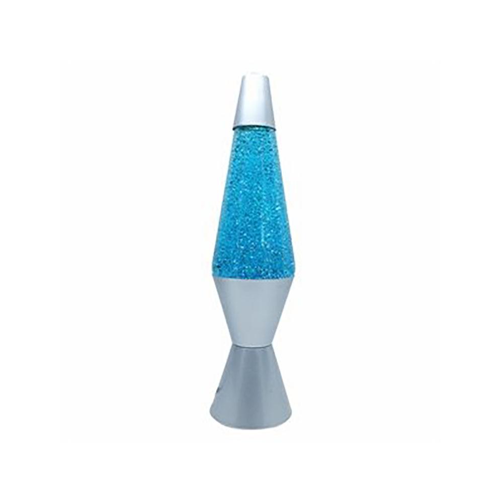 Lampe liquide scintillante bleue 14 pouces