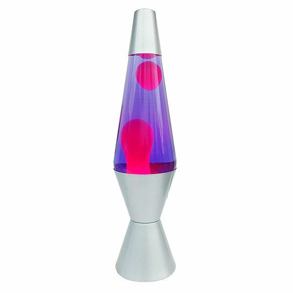 Lampe liquide 35 cm mauve et rose