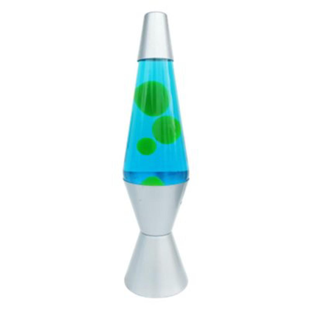 Lampe liquide 35 cm bleue et verte