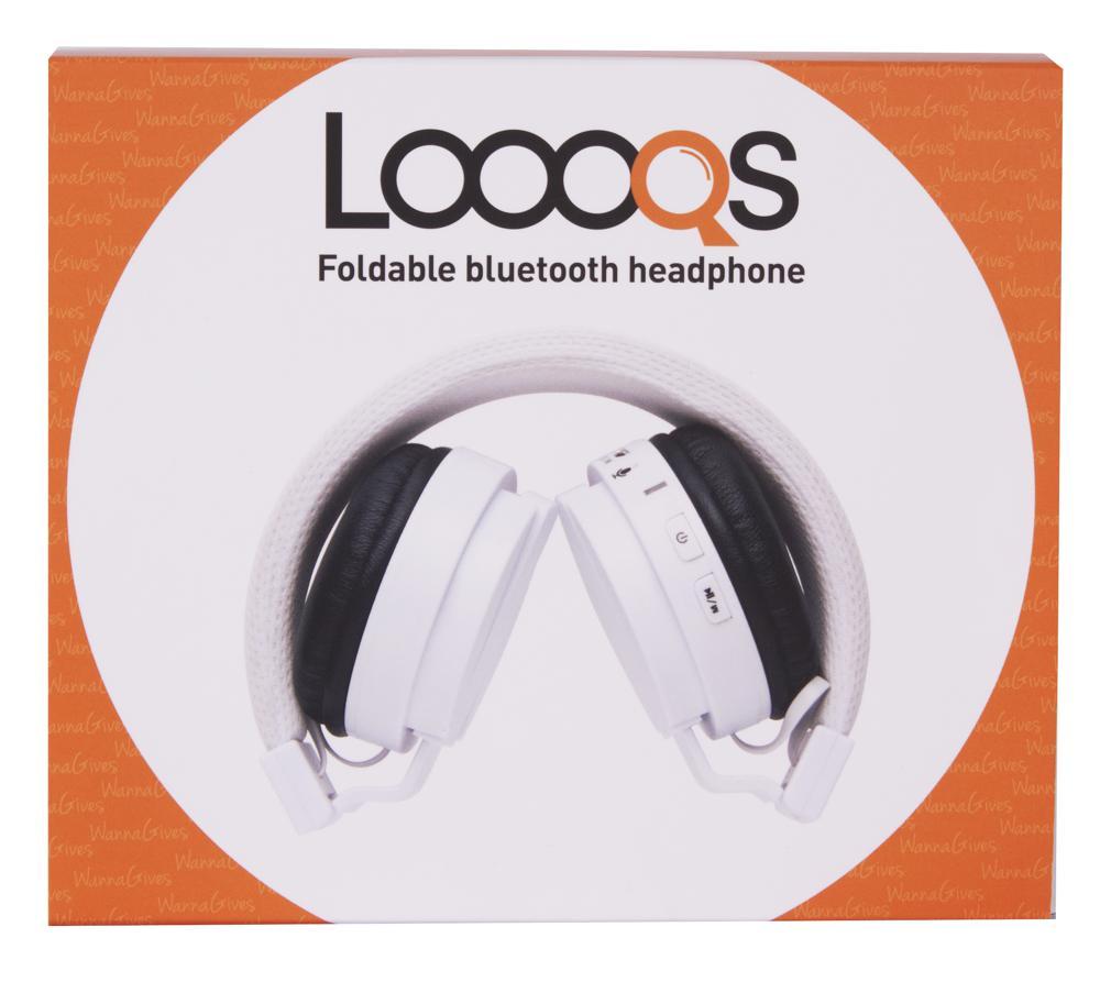 Casque Bluetooth pliable blanc