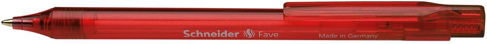 Stylo rétractable Schneider Fave rouge