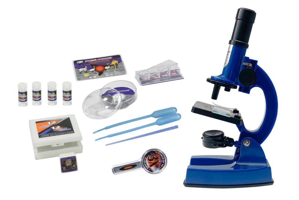 Microscope de luxe 900x en mallette 62 pièces