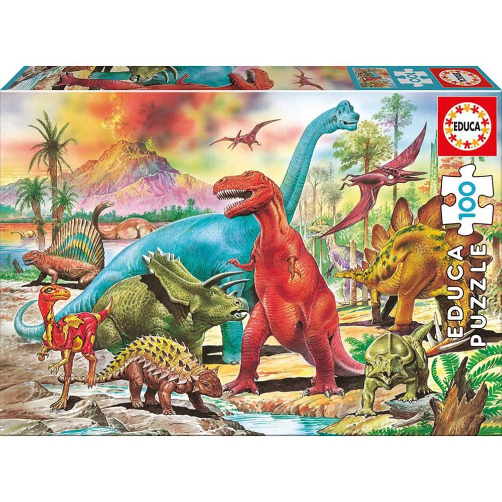Casse-tête 100 pièces - Dinosaures