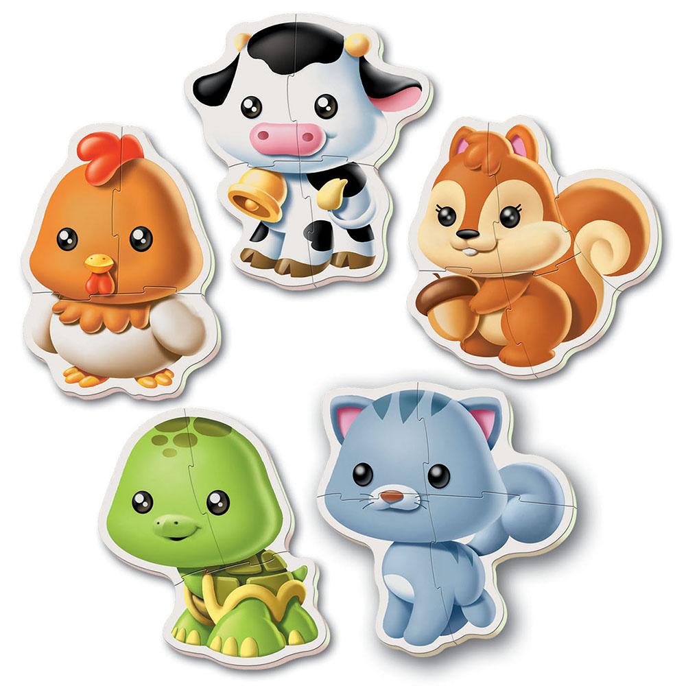 5 Casse-têtes bébé - Animaux