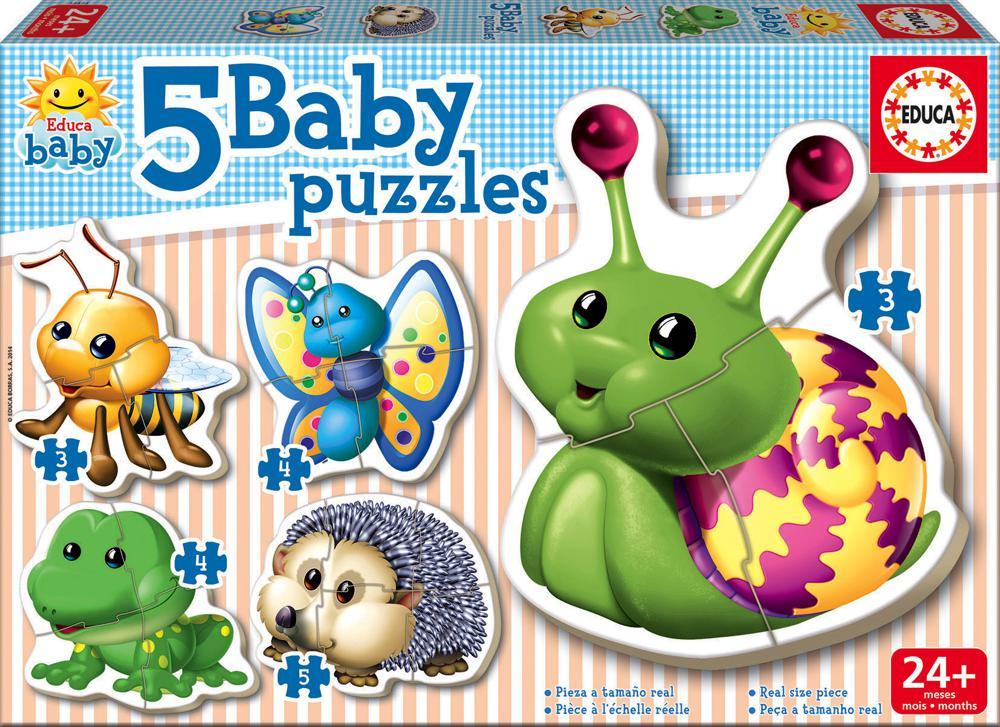 5 Casse-têtes Baby puzzles Animaux de la forêt