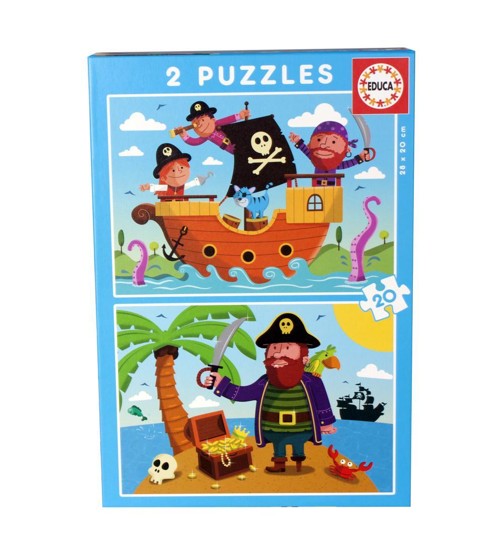 Casse-têtes 2x20 pièces - Pirates