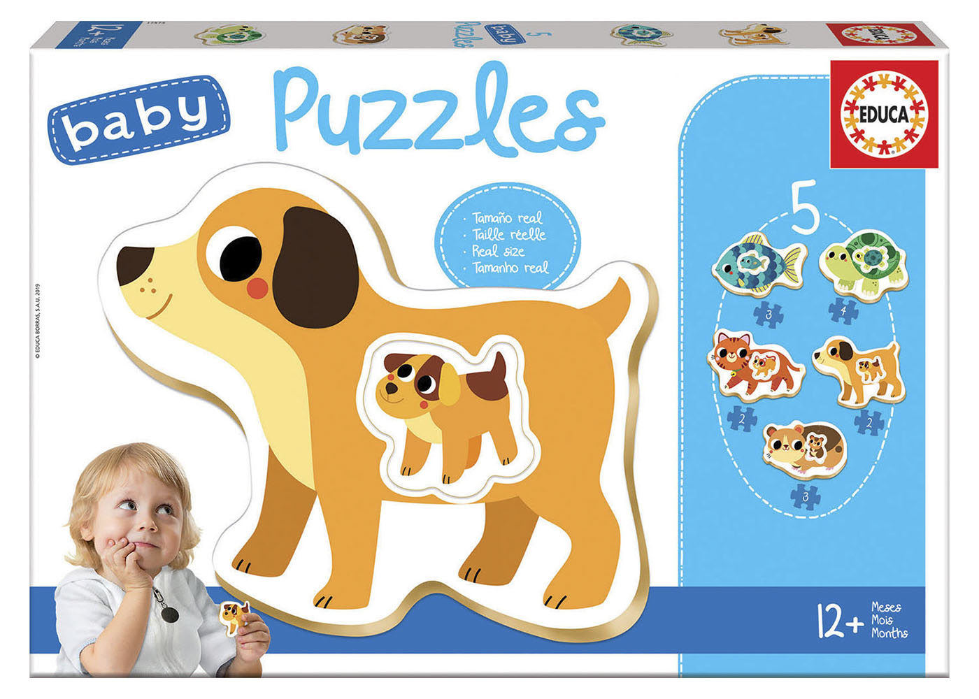 5 Casse-têtes Baby puzzles - Petits animaux