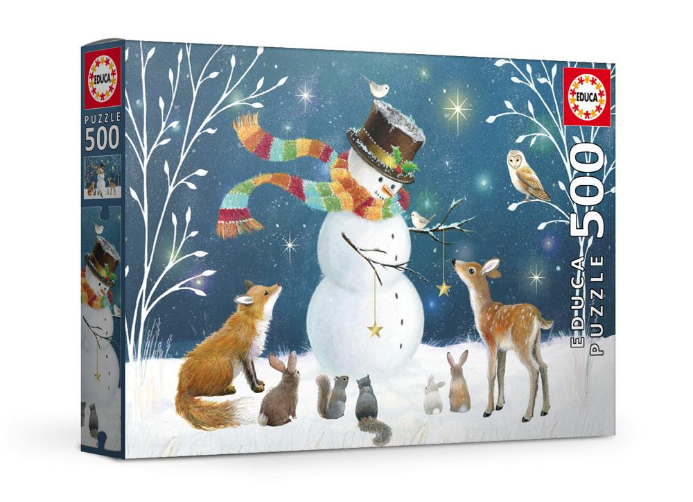 Casse-tête 500 pièces - Le bonhomme de neige et ses amis, Sarah Summers
