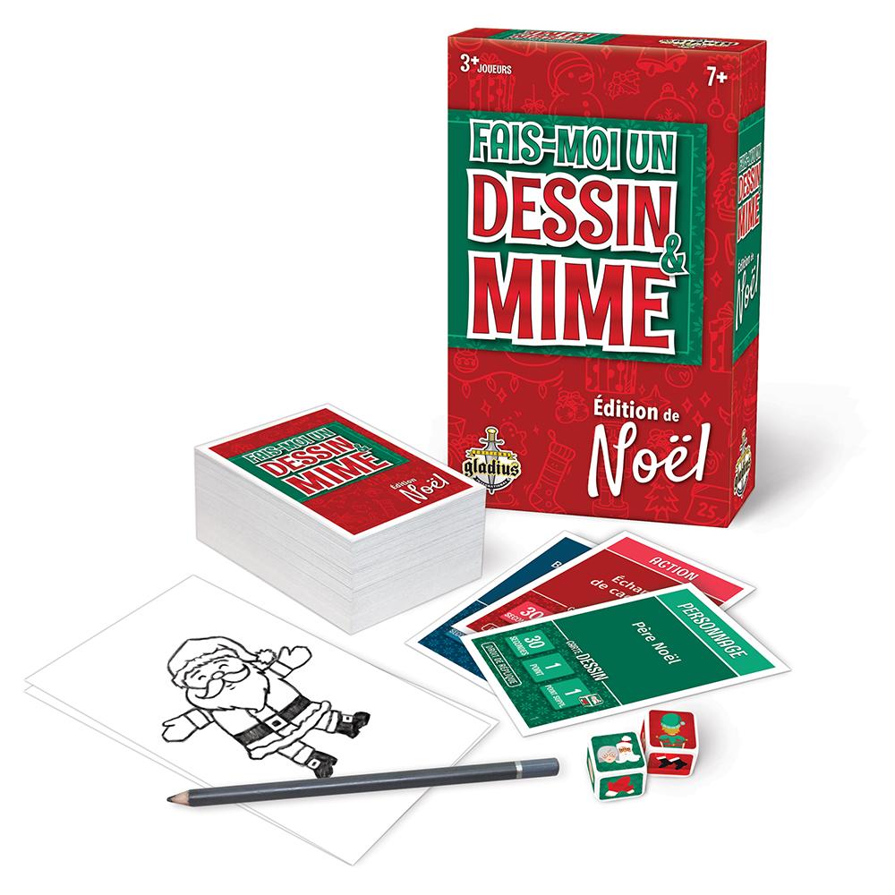 Jeu Fais-moi un dessin & mime Édition Noël