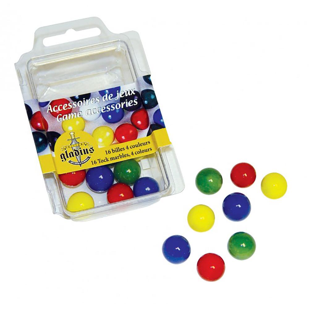 16 billes pour jeu de Tock 4 couleurs
