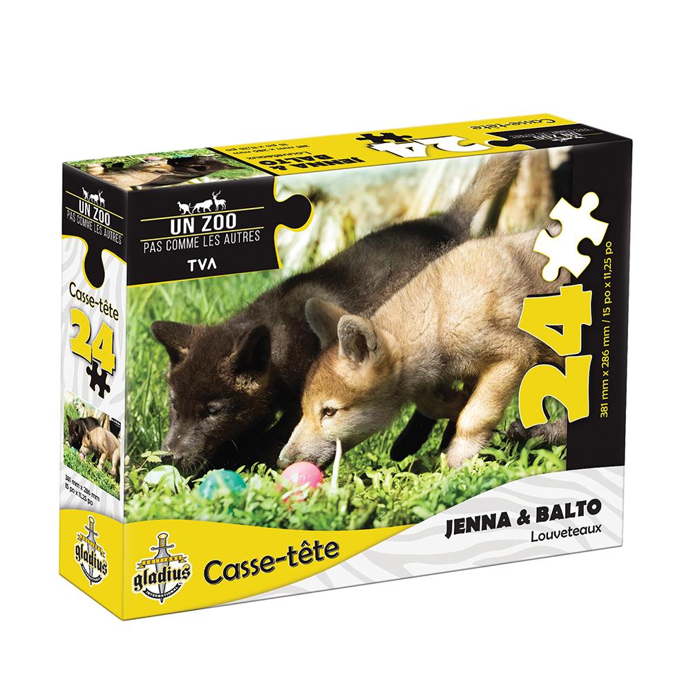 Casse-tête 24 pièces - Miller Zoo- Louveteaux Jenna et Balto