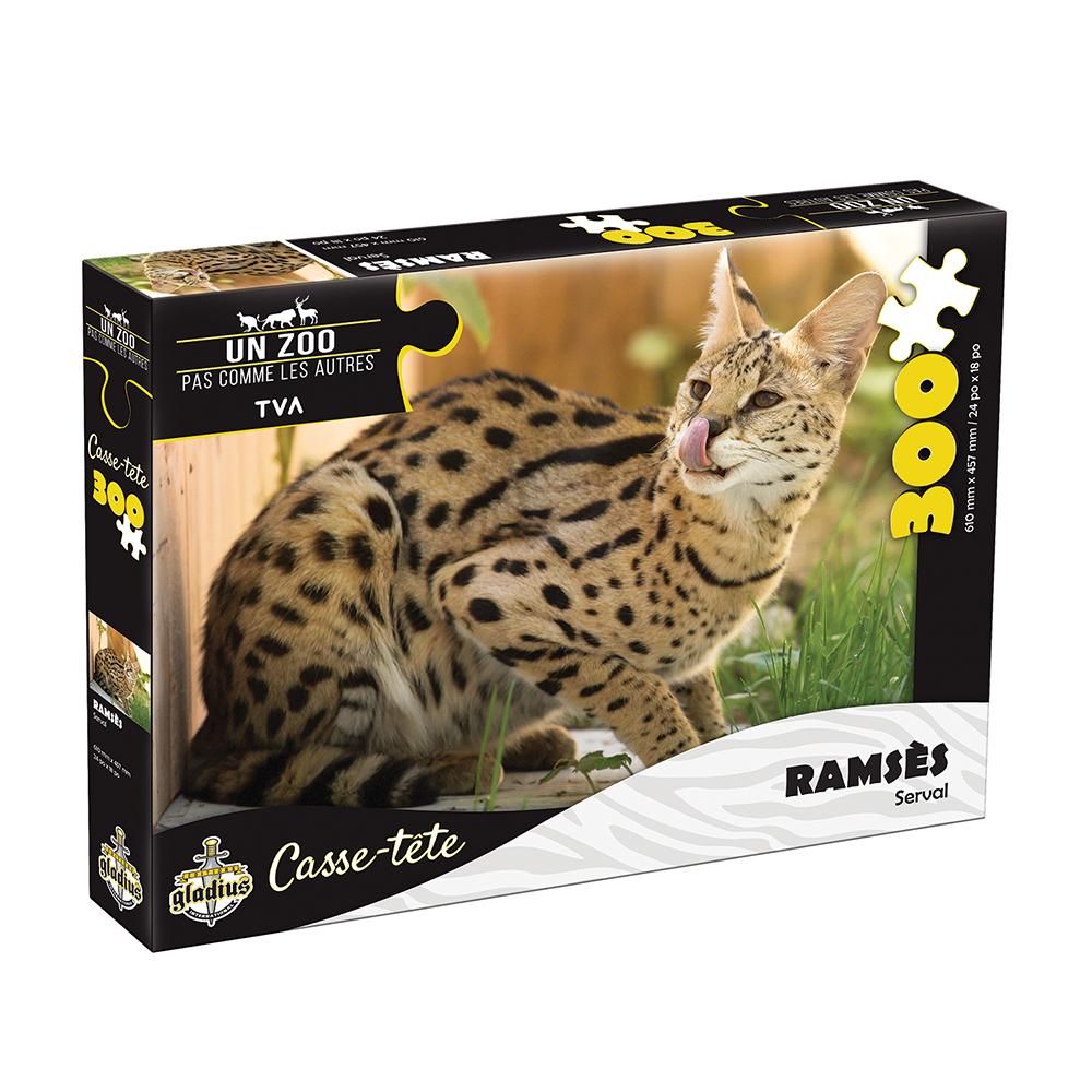 Casse-tête 300 pièces - Miller Zoo- Serval Ramsès