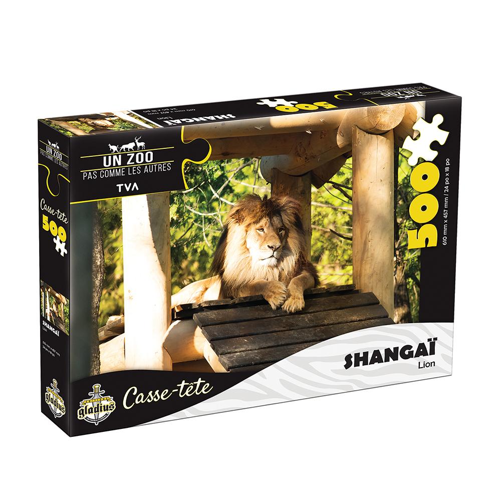 Casse-tête 500 pièces - Miller Zoo- Lion Shanghai