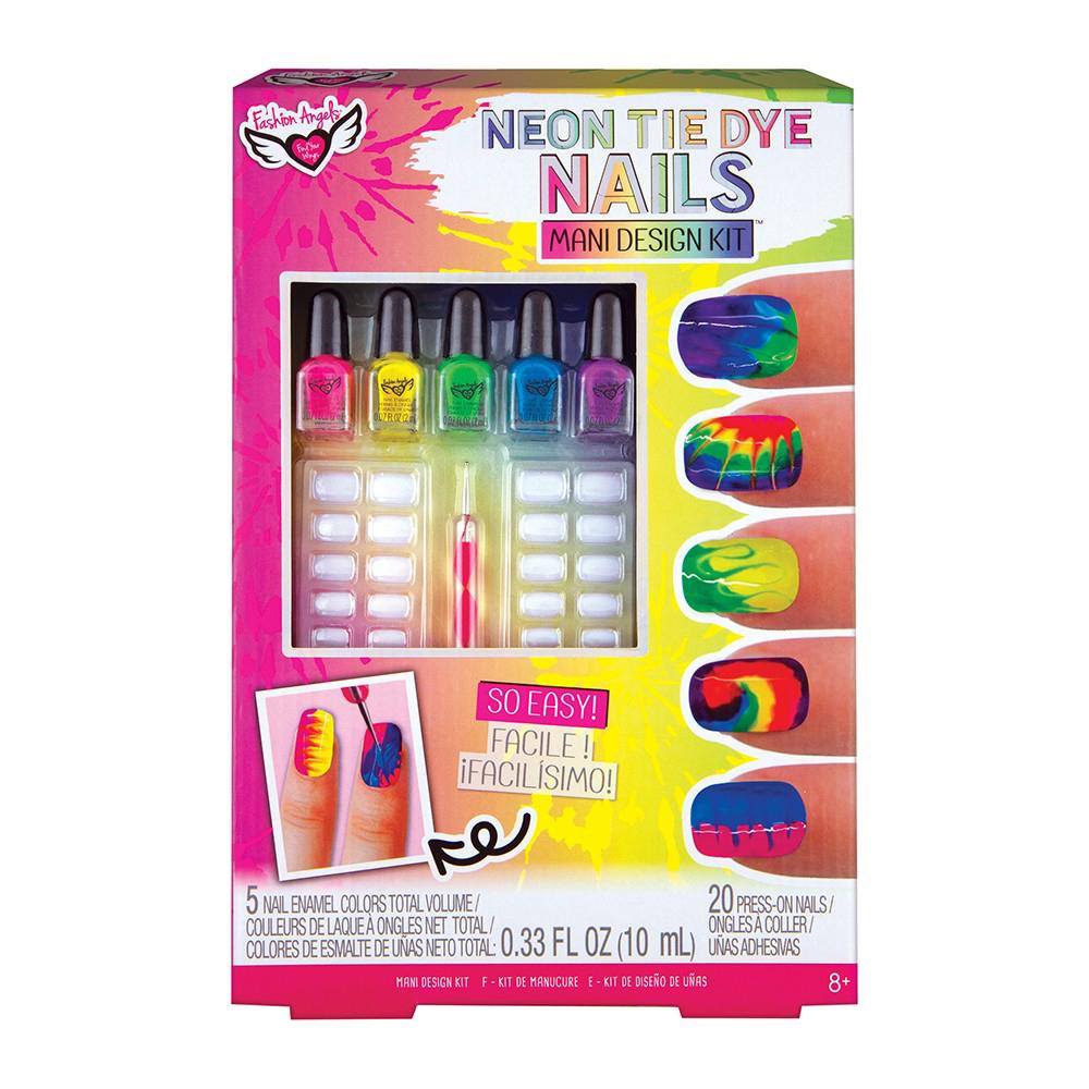 Fashion Angels- Neon Tie Dye- Ensemble manucure
