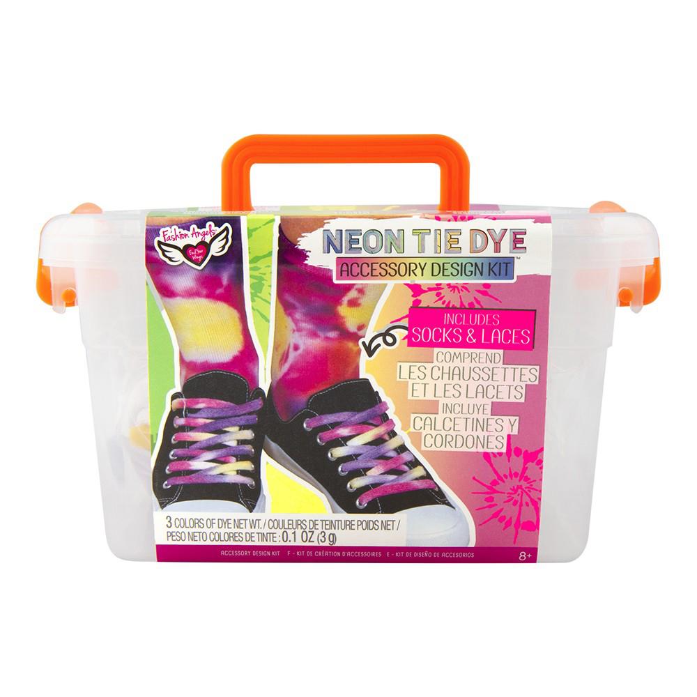Fashion Angels- Neon Tie Dye- Ensemble Création souliers