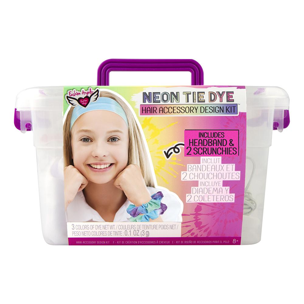 Fashion Angels- Neon Tie Dye- Ensemble Création accessoires à cheveux