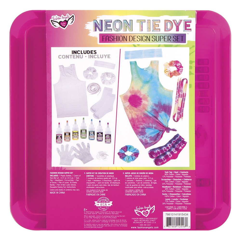 Fashion Angels - Neon Tie Dye- Ensemble Création mode de luxe
