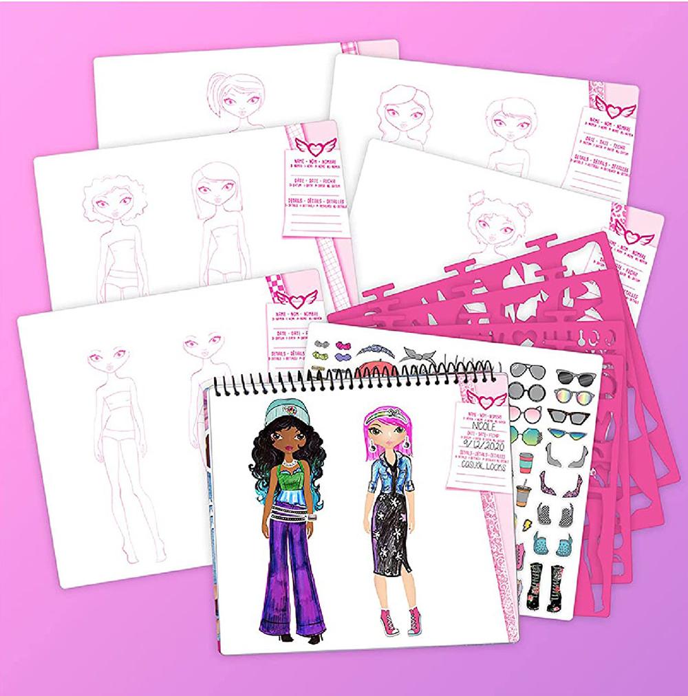 Fashion Angels- I Love Fashion- Portfolio de croquis