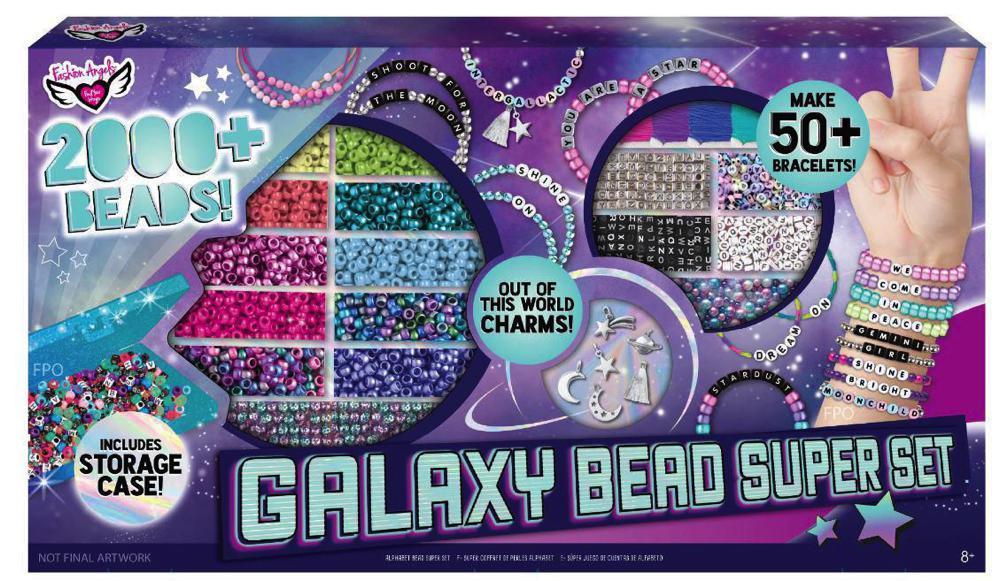 Fashion Angels- Super coffret de perles alphabet 2000+ - Galaxie