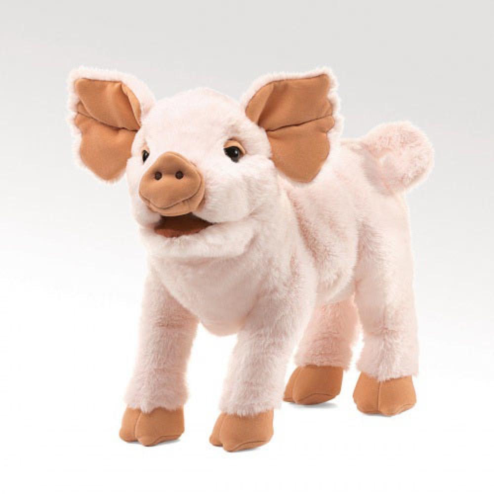 Marionnette - Cochon 38 cm