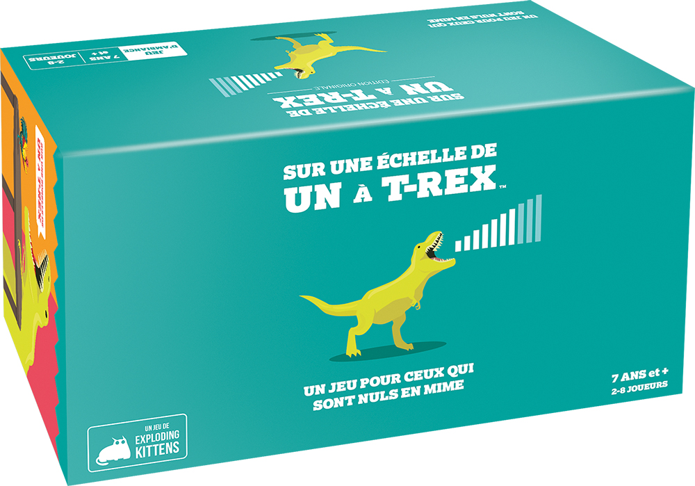 Jeu Sur Une Échelle De Un À T-Rex Version française