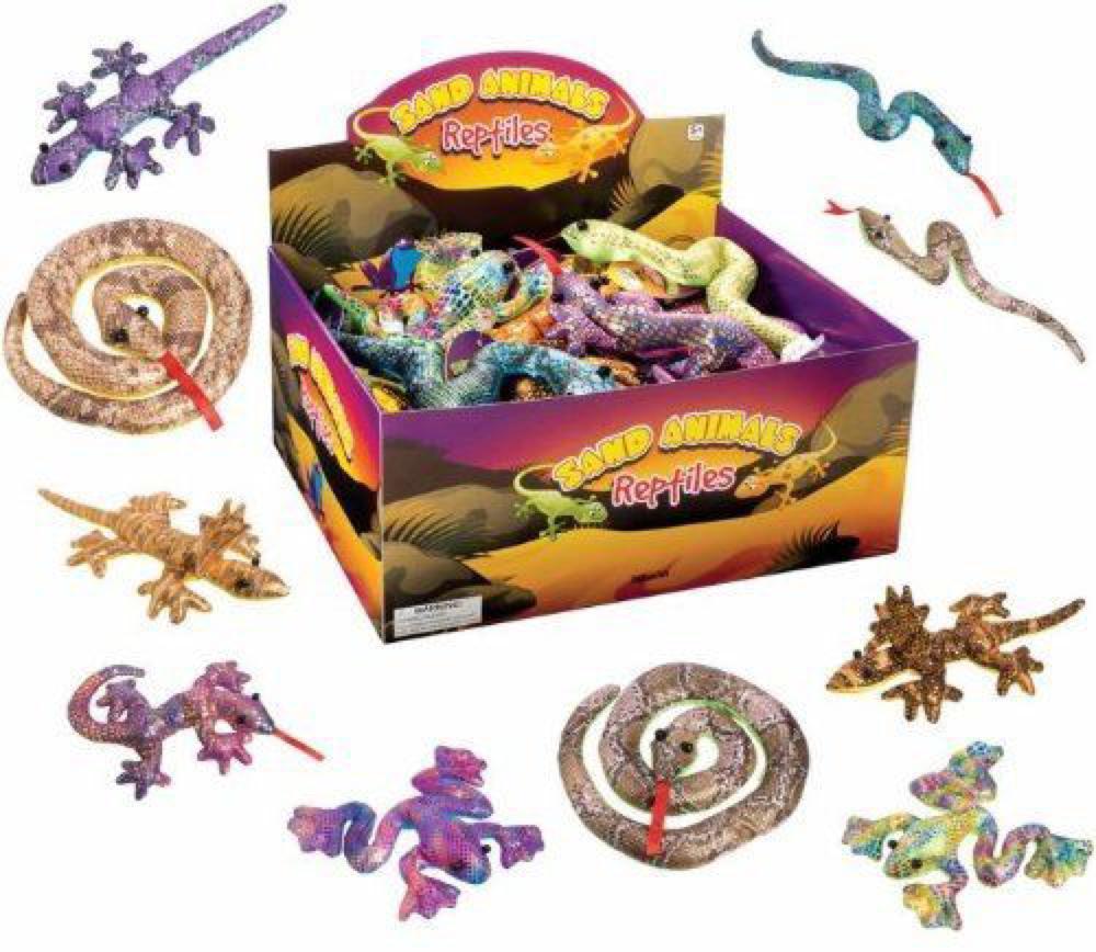 Animal de sable - Reptiles assortis