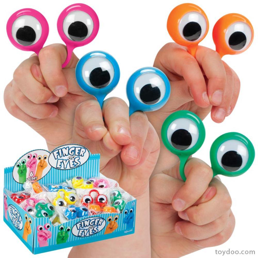 Toysmith - Yeux pour doigts assortis