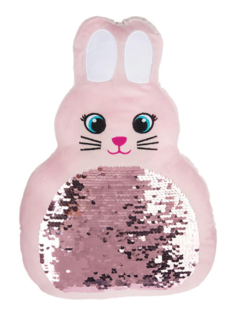 Coussin à paillettes lapin assortis