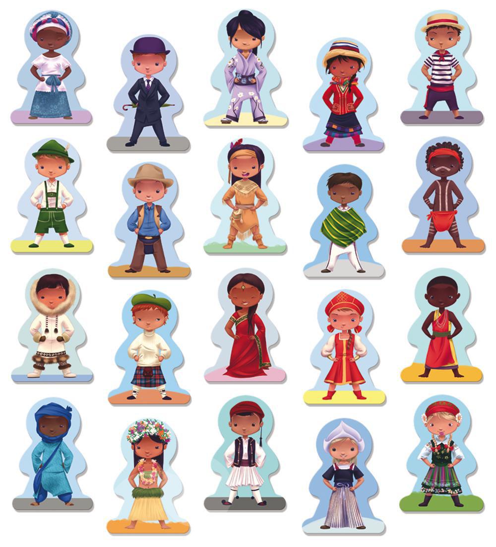 Ludattica Jeu de mémoire Enfants du monde 40 pièces
