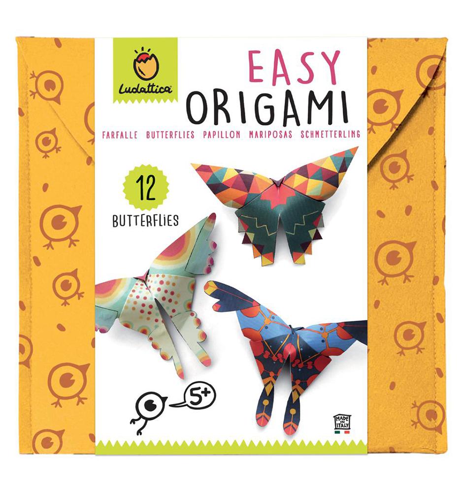 Ludattica Origami facile Papillon 12 feuilles