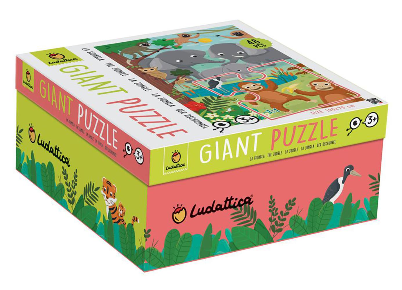 Ludattica Casse-tête de plancher géant 48 pièces La Jungle