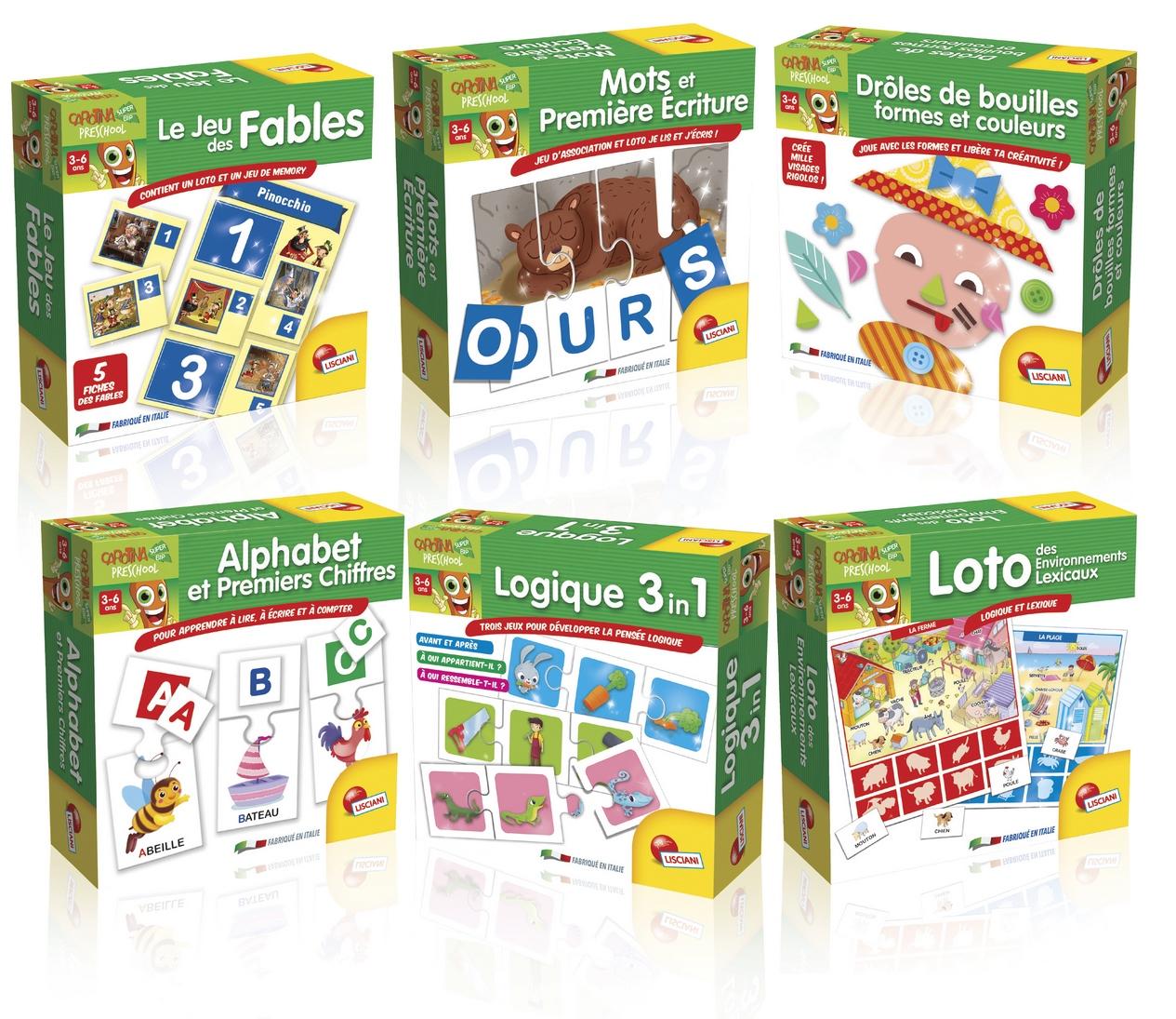 Carotina Preschool  Jeux éducatifs assortis Version française