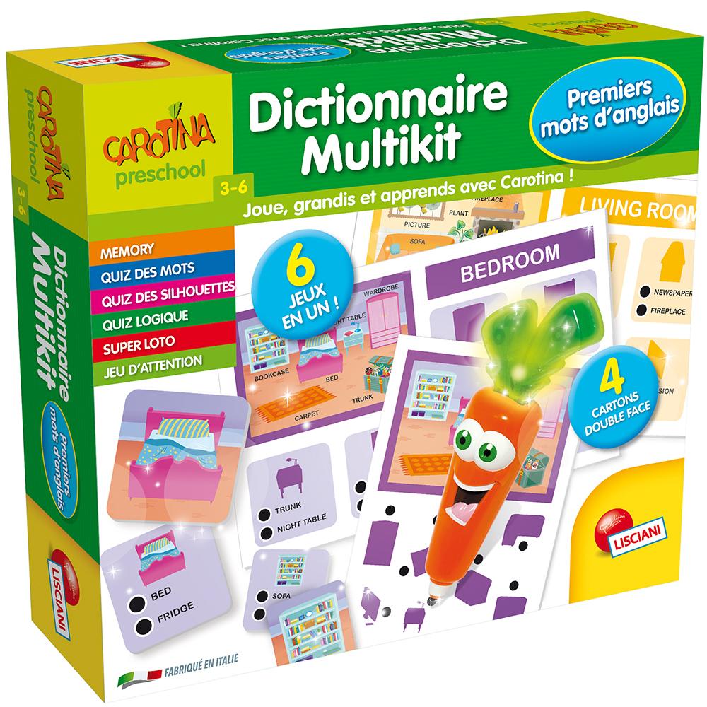 Carotina Magique Dictionnaire Multikit Premiers mots d'anglais