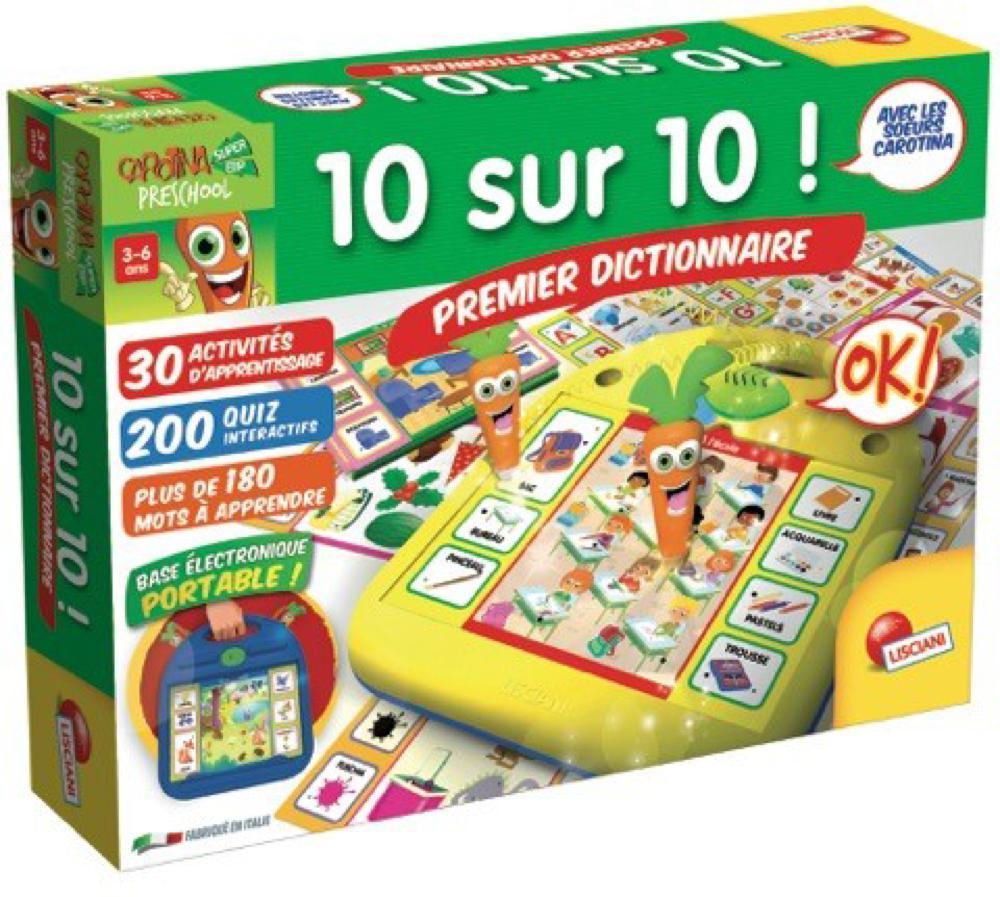 Carotte magique 10 sur 10 Premier dictionnaire