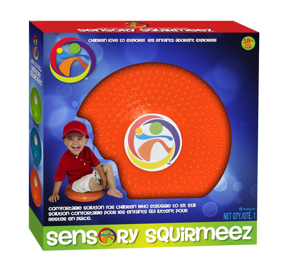 Sensory - Ballon plat Squirmeez orange